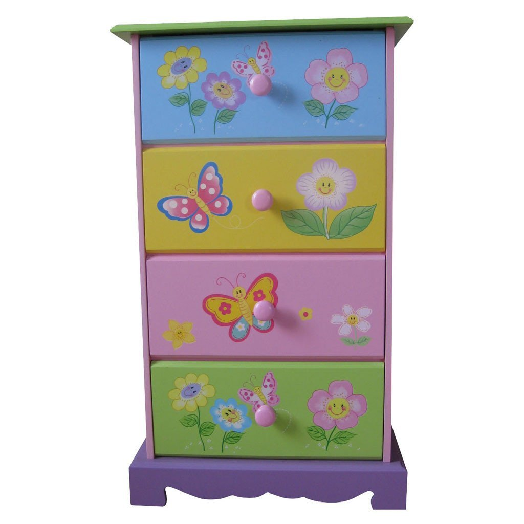 Liberty House Toys 'Butterfly Garden' 4-Drawer Storage