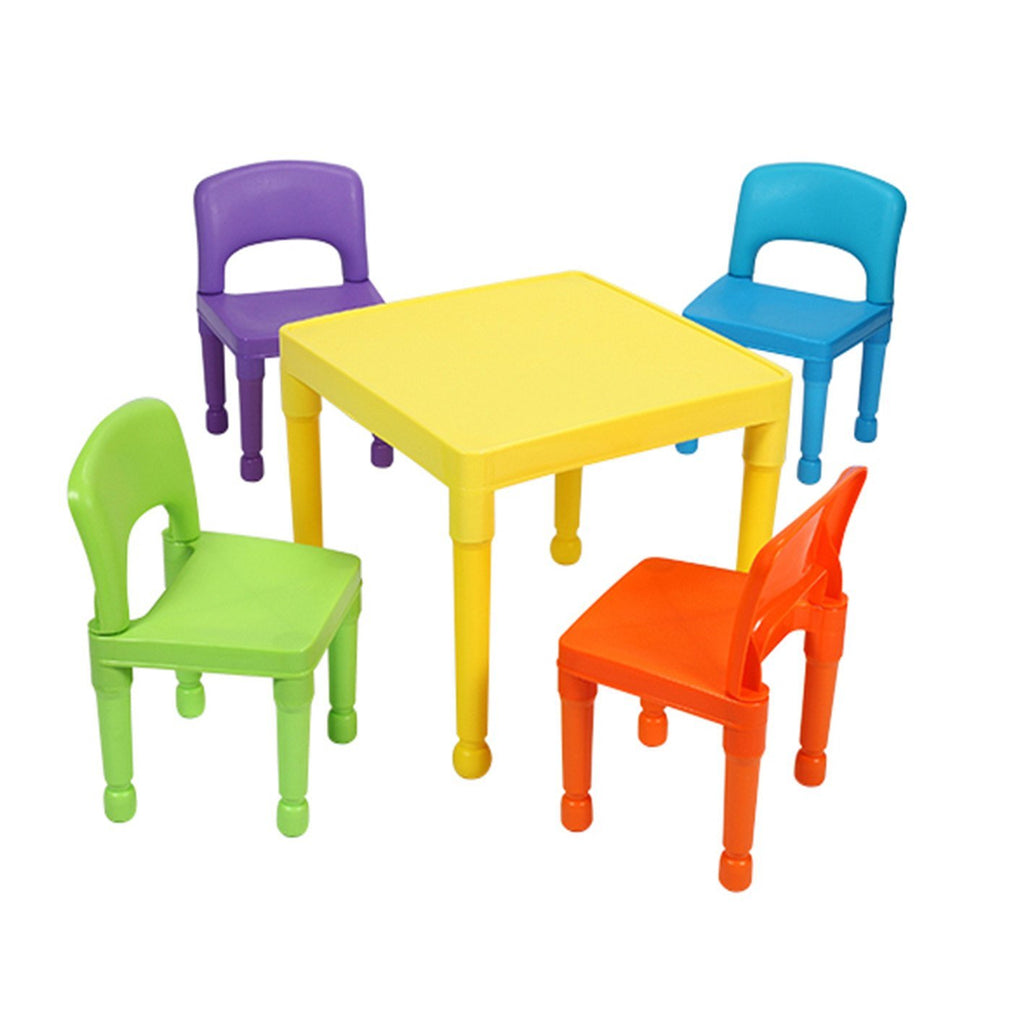 Liberty House Toys Children's Multi-Coloured Table & 4 Chairs Set