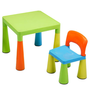 Childrens Multi-Coloured Table & Chairs Set