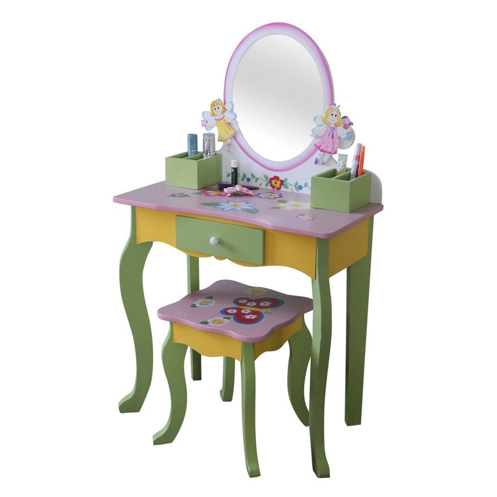Liberty House Toys Fairy Dressing Table & Stool (Oval Mirror)