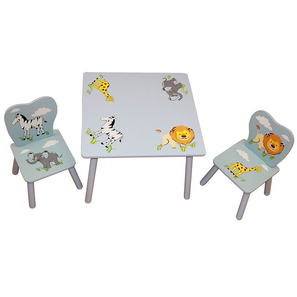 Liberty House Toys Safari Animal Table & Chairs Set