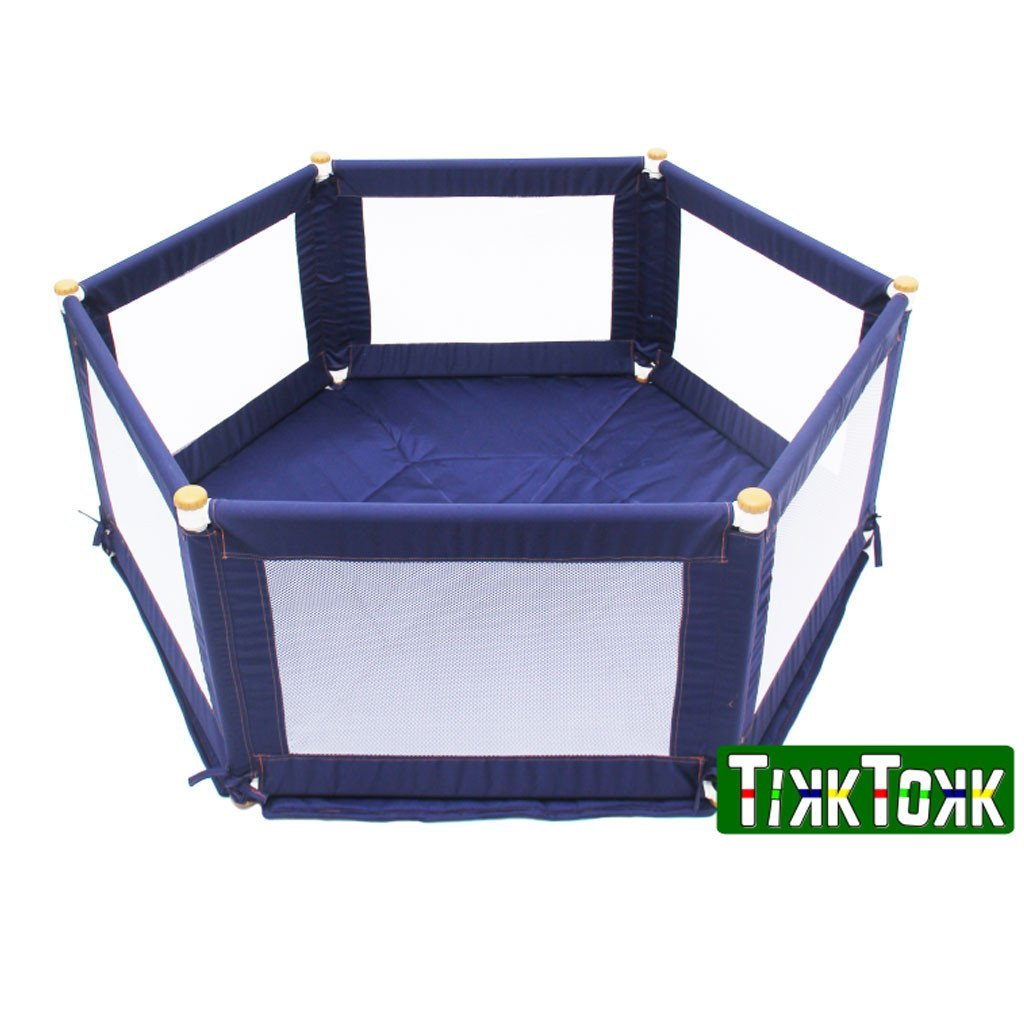 Tikk Tokk POKANO Fabric Playpen - Hexagonal - Blue