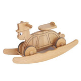 Rock & Ride Turtle - Natural Wood