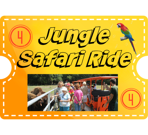 Jungle Safari Ride & 4 Encounters - (not Inc Tiger) Child (2-12)