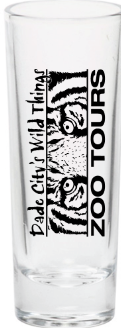 "Shot Glass Long 2"" with Tiger Logo"