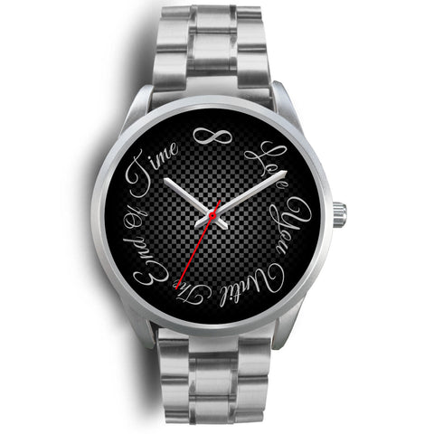 Love You Till The End Of Time Silver Watch for Men or Women