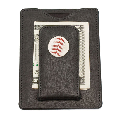 New York Yankees Game Used Baseball Money Clip Wallet