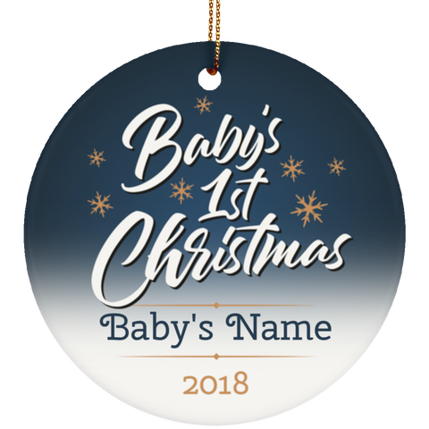 Personalized Baby's 1st Christmas Ceramic Ornament