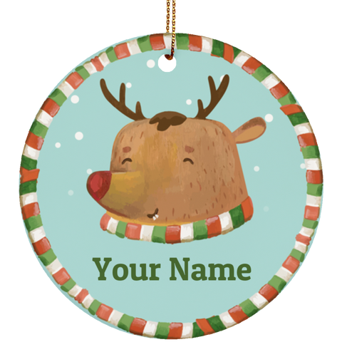 Rudolph Personalized Ceramic Ornament