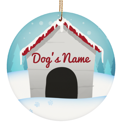 Personalized Dog House Ceramic Ornament