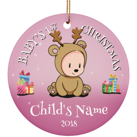 Baby's First Christmas Personalized Ceramic Ornament