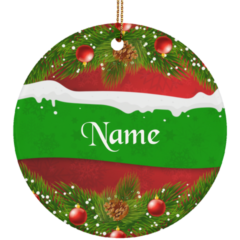 Personalized Christmas Wreath Ornament
