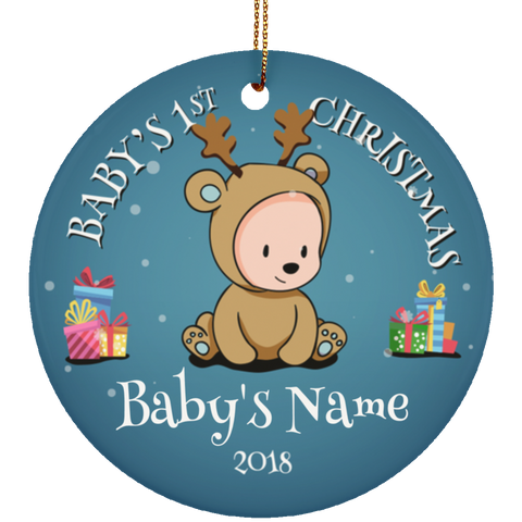 Personalized Baby's First Christmas Ceramic Ornament
