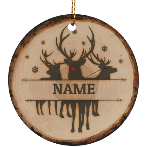 Personalized Rudolph Ceramic Christmas Ornament