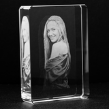 Custom Laser Engraved 3D Photo Crystal Stadium