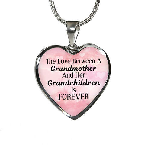Love Between Grandmother And Grandchildren Is Forever Pendant Necklace