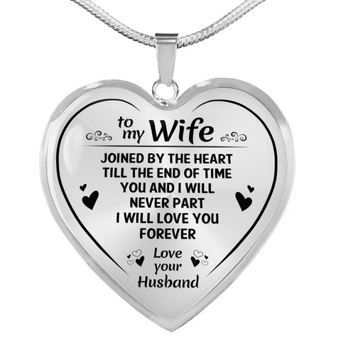 To My Wife Love You Forever Heart Necklace