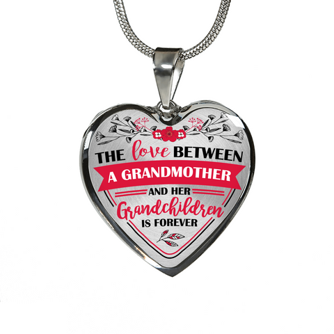 The Love Between A Grandmother And Her Grandchildren Is Forever Pendant Necklace