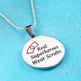 Nurses Are Superheroes Necklace