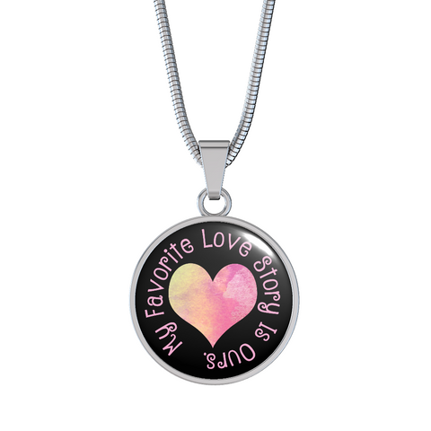 My Favorite Love Story Pendant Necklace