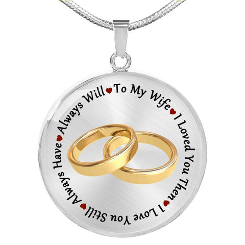 To My Wife Pendant Necklace