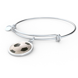 Soccer Charm Bangle Bracelet