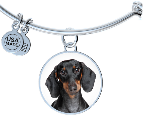Black and Tan Dachshund Bangle Bracelet
