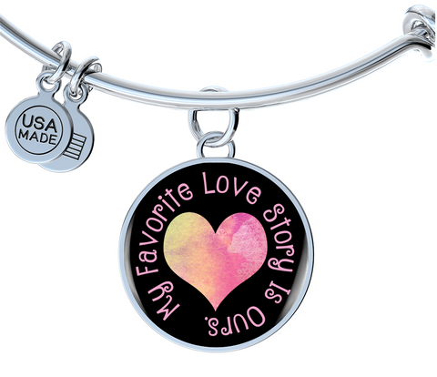 My Favorite Love Story Bangle Bracelet