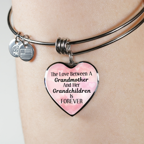Love Between Grandmother And Grandchildren Is Forever Bangle Bracelet