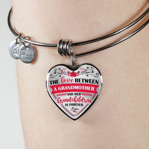 The Love Between A Grandmother And Her Grandchildren Is Forever Bangle Bracelet