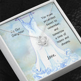 To Our Daughter Love Knot Necklace For Wedding Gift