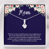 Mom CZ Necklace on Message Card