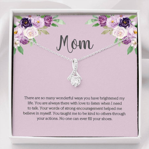 Mom CZ Necklace on Meaningful Message Card