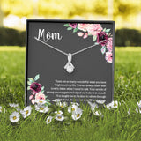 Mom Necklace From Son Or Daughter, CZ Pendant