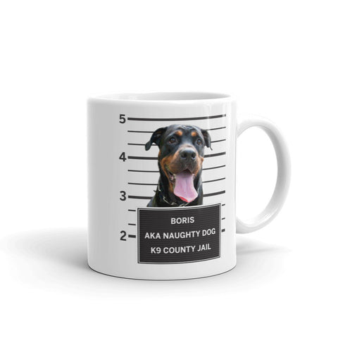 Custom Dog Mugshot Coffee Mug