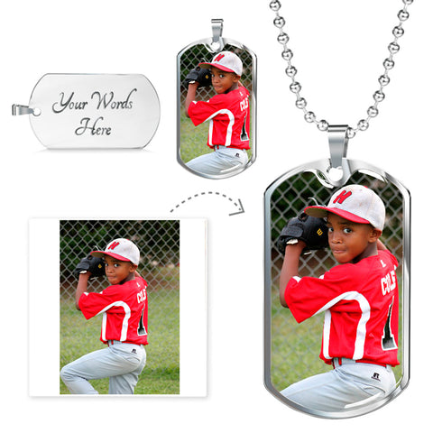 Personalized Dog Tag Photo Jewelry With Your Own Picture