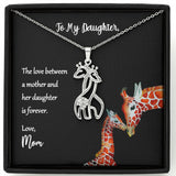 The Love Between A Mother And Her Daughter Is Forever Giraffe Necklace