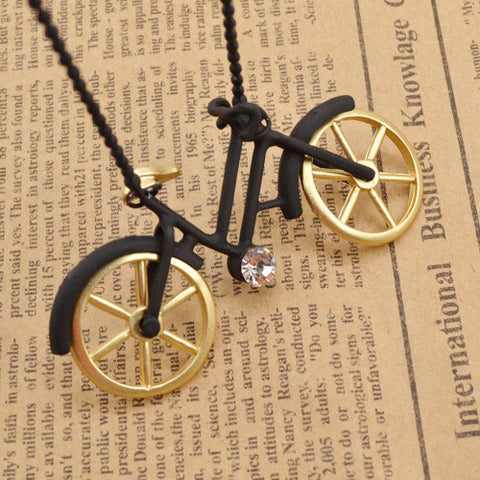 Bicycle pendant necklace ruby peach bicycle pendant necklace bicycle pendant necklace aloadofball Gallery