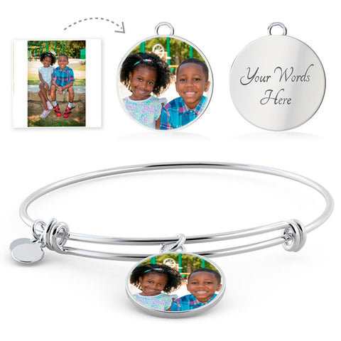 Personalized Bangle Photo Bracelet With Your Own Picture