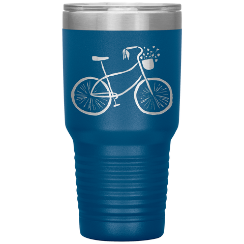 Bicycle - Bike - Cycling Travel Mug Tumbler 30 oz
