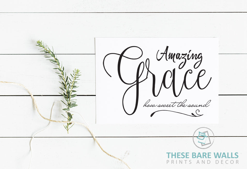Amazing Grace How Sweet The Sound Large Print
