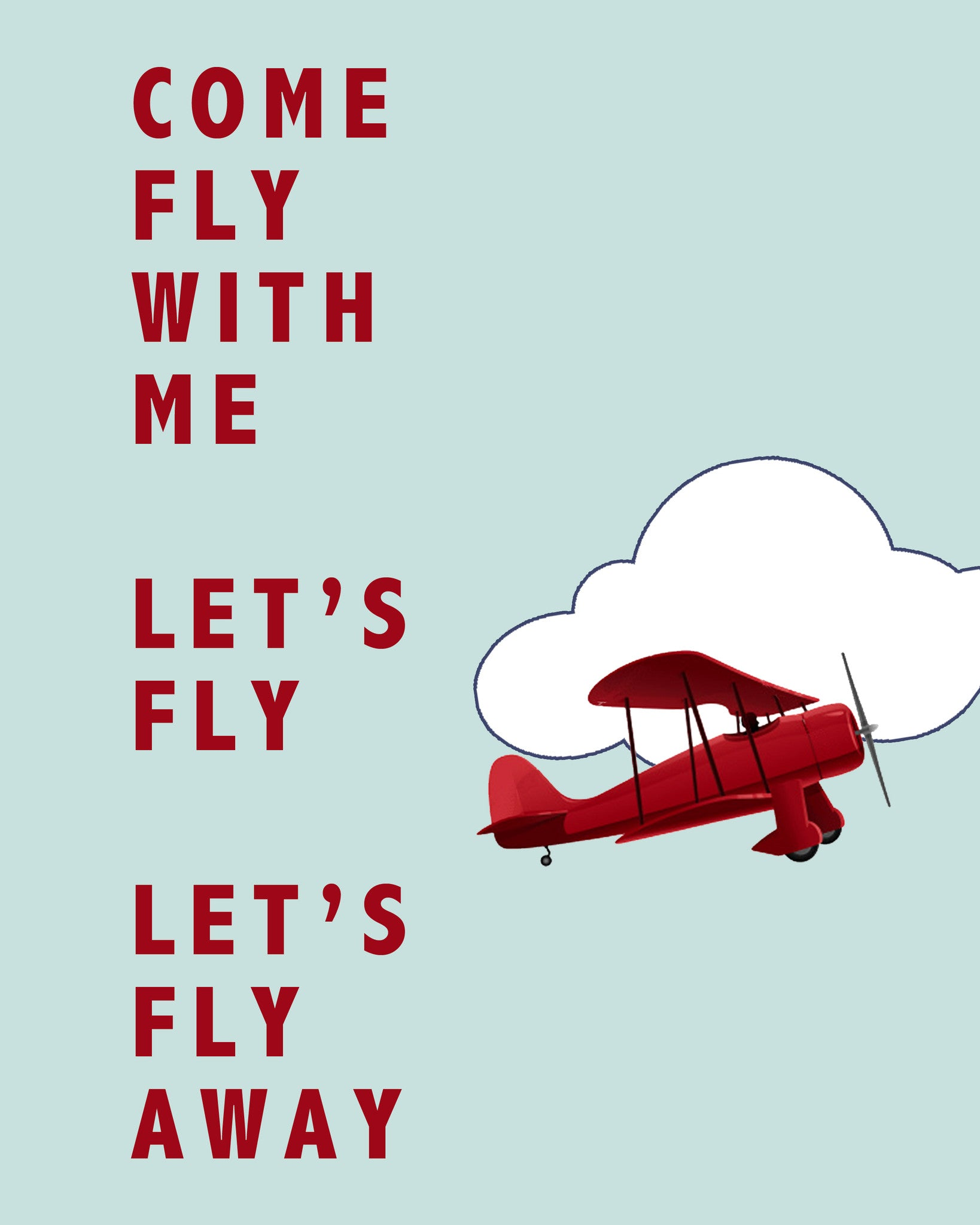 Come Fly With Me Printable Art - These Bare Walls