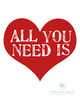 All You Need Is Love Printable Wall Art - These Bare Walls - 2