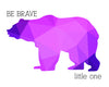 Bear Silhouette Be Brave Little One Printable Art - These Bare Walls - 6