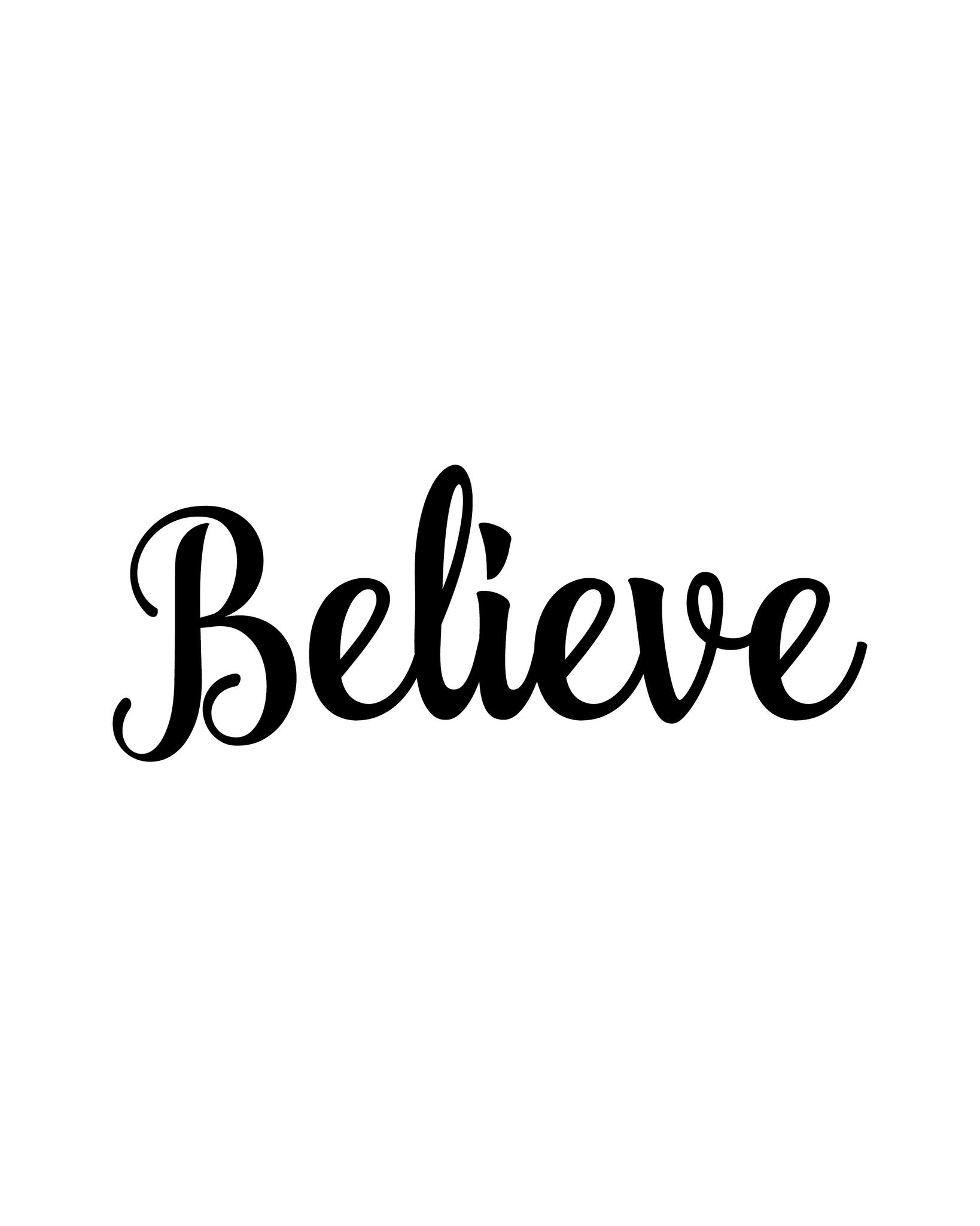 Believe Printable Art - These Bare Walls