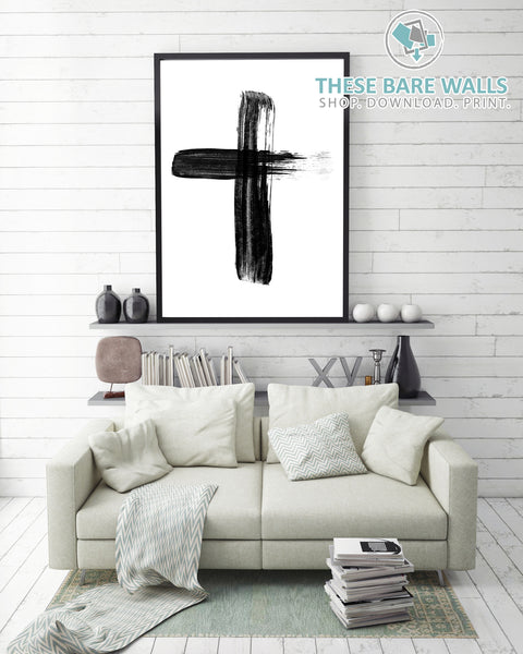 Cross Printable Wall Art - These Bare Walls - 1