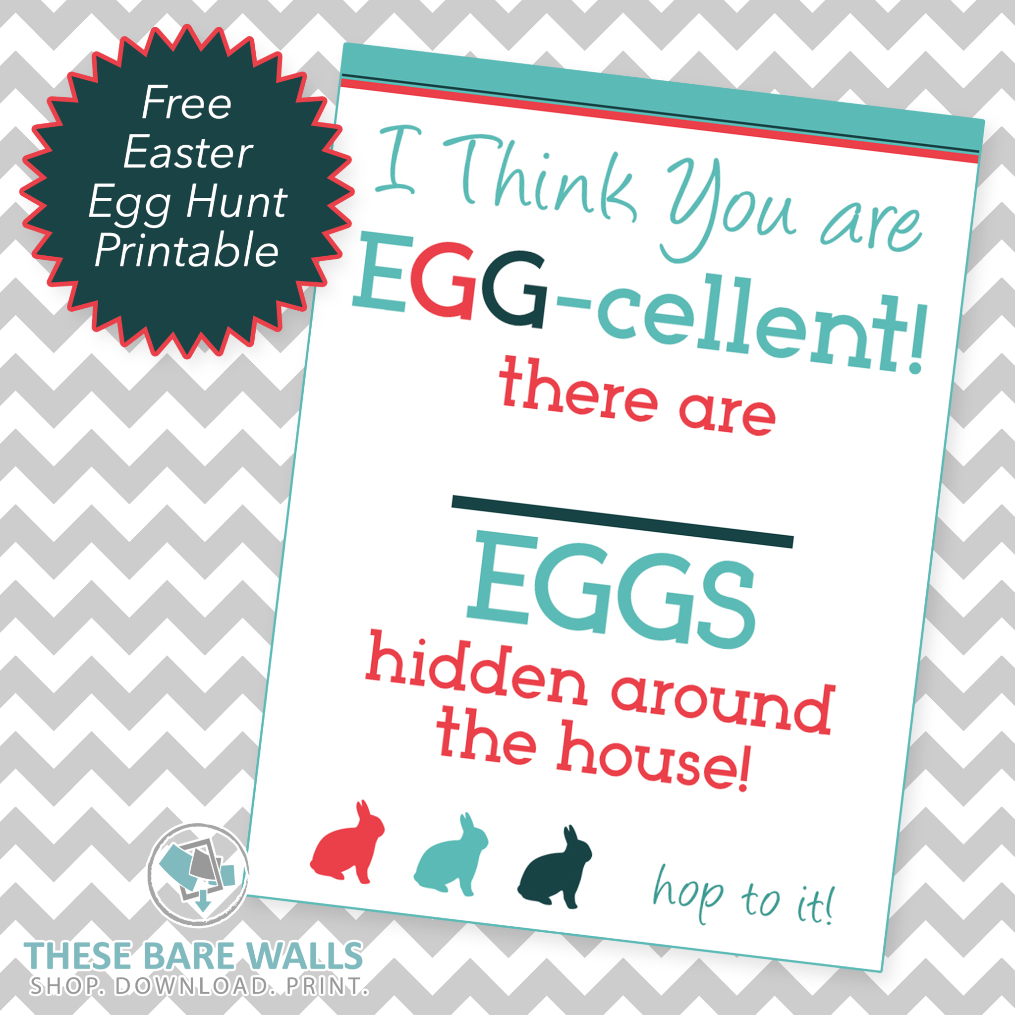 FREE Easter Egg Hunt Printable - From These Bare Walls - These Bare Walls - 1