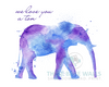 We Love You a Ton Watercolor Elephant Printable Wall Art - These Bare Walls - 3