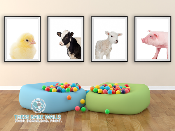 Farm Animal Prints - These Bare Walls - 1