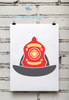 Fire Department | Fireman's Helmet Print